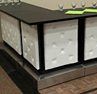 White Leather Tufted Bar | Corner Piece