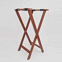 Tray Waiter Stand Jack Wood Walnut