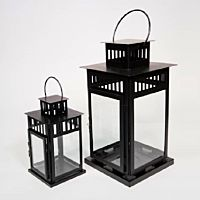 Lantern Hanging Jamestown Black 11""