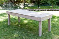Cottage Grey Wood Table 6'
