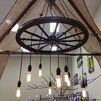 Wagon Wheel Chandelier