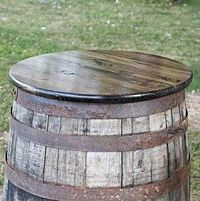 Whiskey Barrel Tabletop