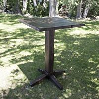Vineyard Wood Square Pedestal Table