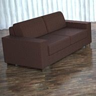 Lounge Leather Brown Loveseat