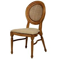 Elizabeth Caneback Wood Chair