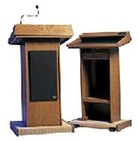 Podium Wood Deluxe W Flexible Microphone