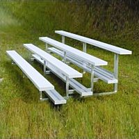 Bleacher Stationary 4 Row Aluminum 36 People