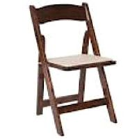 Fruitwood Chair w/ Tan Pad