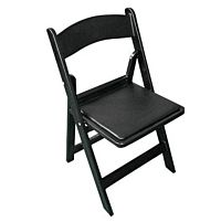 Resin Chair with Pad | Black