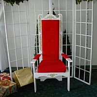Decor Holiday Santa Chair