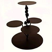 Cakestand Iron Tree Cocoa 4 Tier