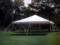 Do-it-Yourself Party Tent White 20'x20'x7' Legs