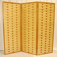 Natural Wood Privacy Screen Backdrop | 3 Panels