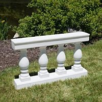 Balustrade White Column | 4'x29""