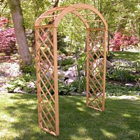 "Natural Wood Lattice Arch | 30"" Deep"