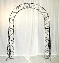 Black Scroll Iron Arch