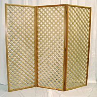 Natural Wood Lattice Backdrop | Flat Top | 3 Panels