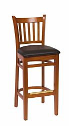 Slat Back Bar Stool | Cherry Wood