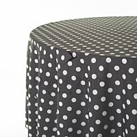 Classic Polka Dotted White Dots/Black Back