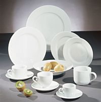 Bistro White China Set