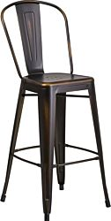 Metal Rustique Bar Stool | Copper