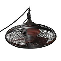 "Bronze Ceiling Fan w/Cage - 20"" Round"