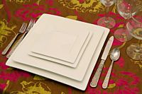 Bistro White Square China Set