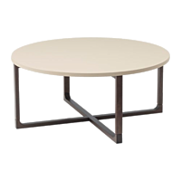 """Tate Beige 35"""" Round Coffee Table"""