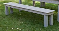 Cottage Grey Wood Bench