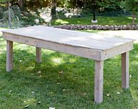 Cottage Grey Wood Table | 6'