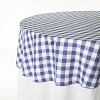 Gingham Blue White