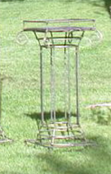 Plant Stand Iron Greek 3' Tall
