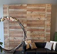 "Decorative Shiplap Wood Wall 116""x116"""