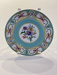 "Marie Blue 8"" China Plate"