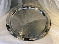 """Tray Silver Round 20"""" Large"""