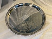 """Tray Stainless Polished Round 16"""""""