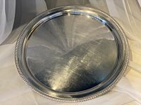 """Tray Stainless Polished Round 19"""""""