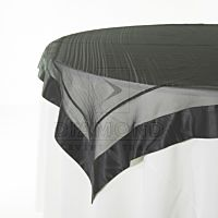 Organza Satin Border Black