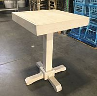 Farmhouse Wood Square Pedestal Table
