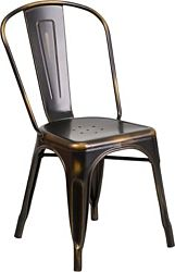 Rustique Copper Metal Chair