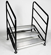 Stage Stairs w/ Handrail | 24""