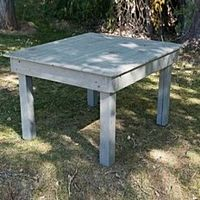 "Cottage Grey Wood Table | 42""x48"""