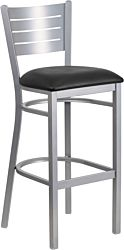Metal Slat Back Bar Stool