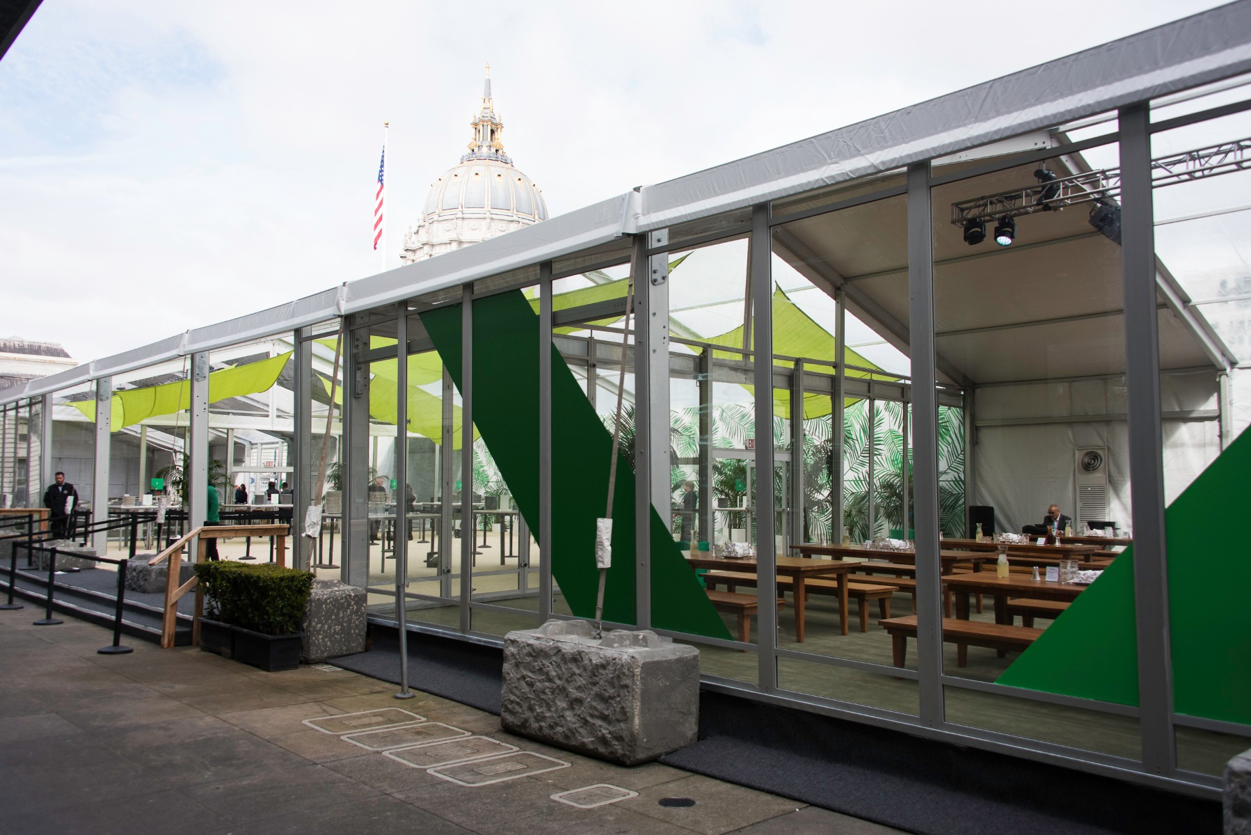 Google Cloud Services Tent
